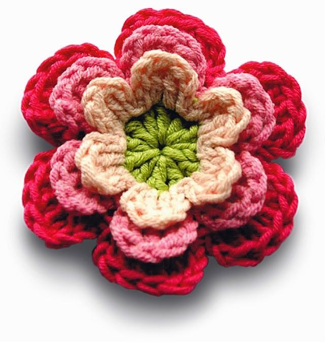 Free Crochet Patterns: Free Crochet Patterns: Flowers, #haken, gratis patroon (Engels), veel gratis bloem patronen