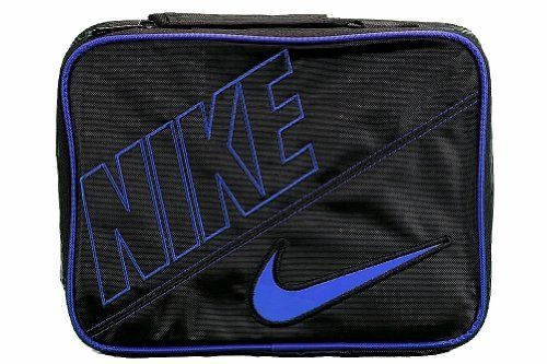 Nike Boys Black Blue Swoosh Insulated Lunch Box