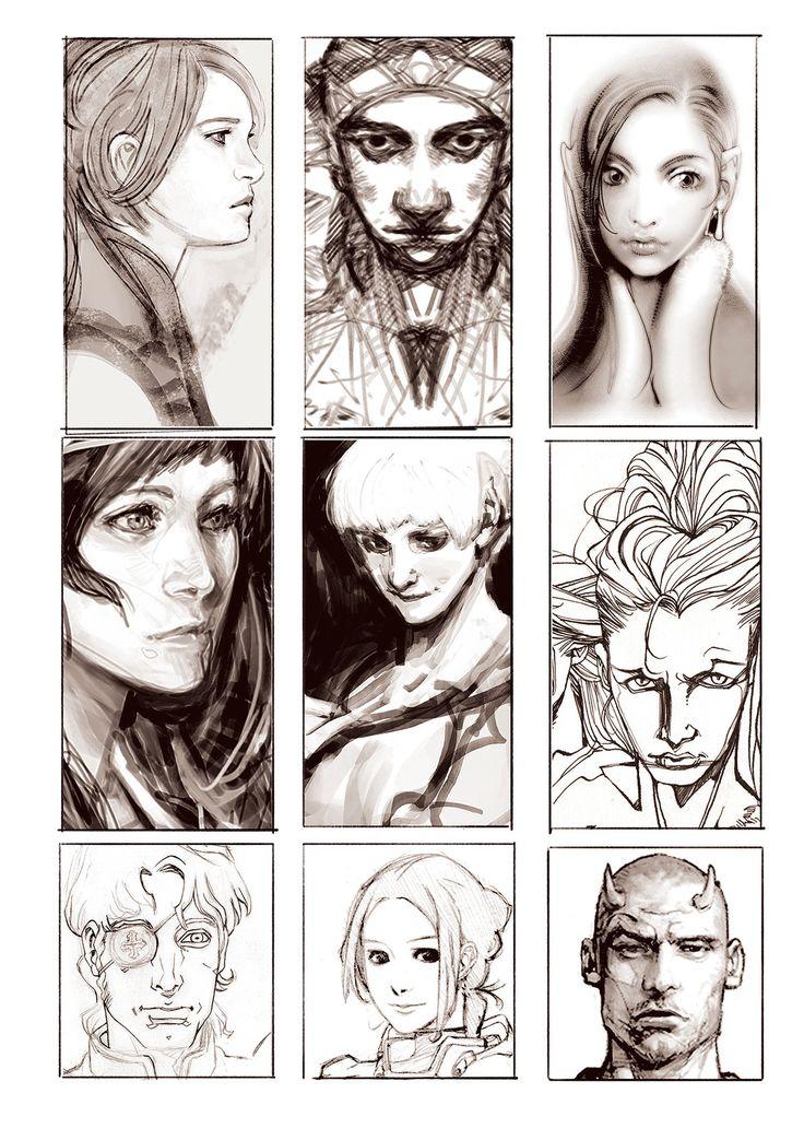 character sketch, yasu _ on ArtStation at https://www.artstation.com/artwork/4zvnY