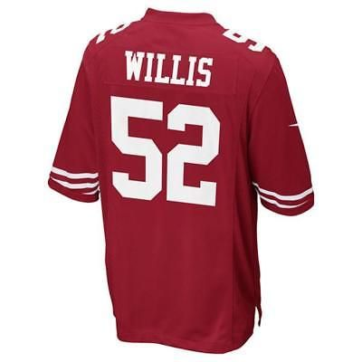 San Francisco 49ers Patrick Willis Scarlet Game Jersey
