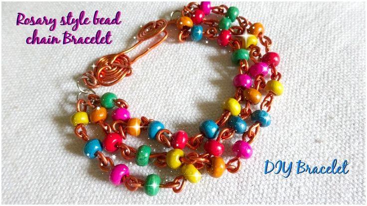 Rosary style bead chain bracelet | DIY Bracelet | part - 3
