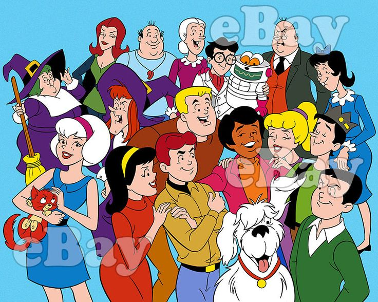 NEW!! EXTRA LARGE! THE ARCHIES Cartoon Poster Print FILMATION Sabrina the Witch