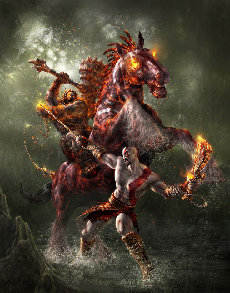 Gods of War II ~Epic battle, loved using his weapon against him