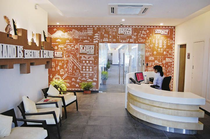 Office design indian advertising agency mudra 39 s office for Interior design pr agency
