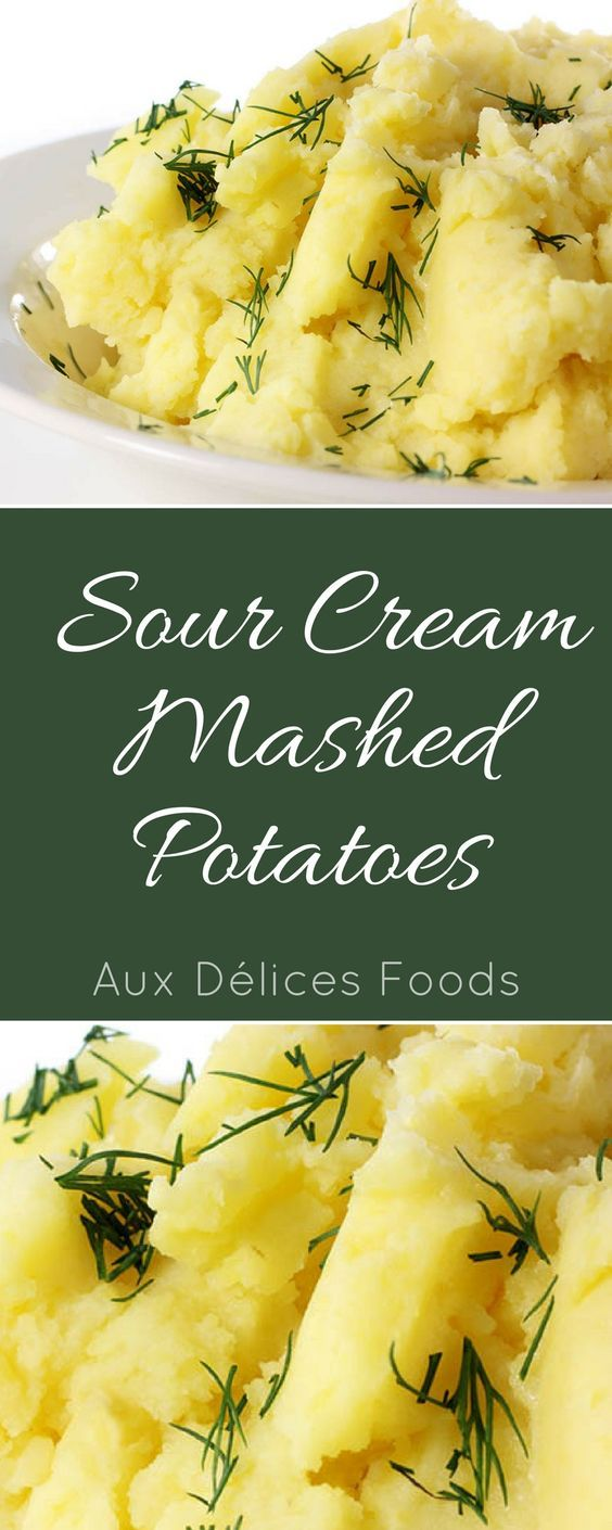 Sour cream adds a great zip to this classic side dish! Mashed potatoes: Thanksgiving Side | Mashed Potato Recipe | Dinner Side Dishes | Holiday Side Dish