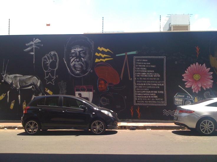 street art in maboneng, johannesburg