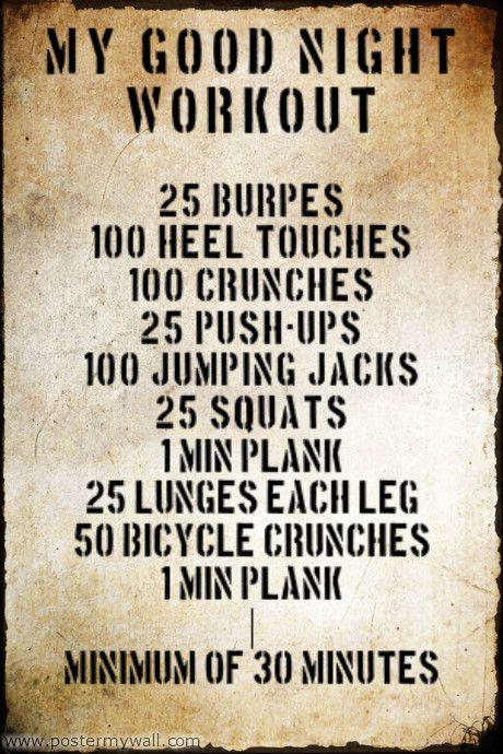 My Good Night workout