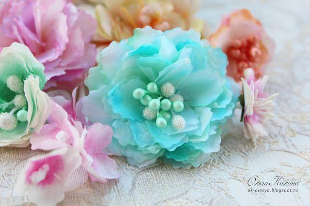 Цветы из кальки, тишью и кофейных фильтров. Видео-мк.