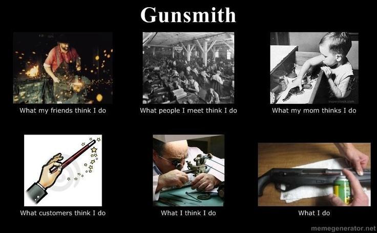 Gunsmithing different majors