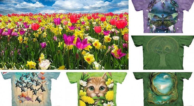 Descopera culorile primaverii in colectia de tricouri The Mountain