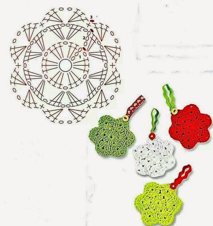 Il blog di Vera Maglia&Uncinetto: fiorellini uncinetto ideali anche come decorazione natalizia