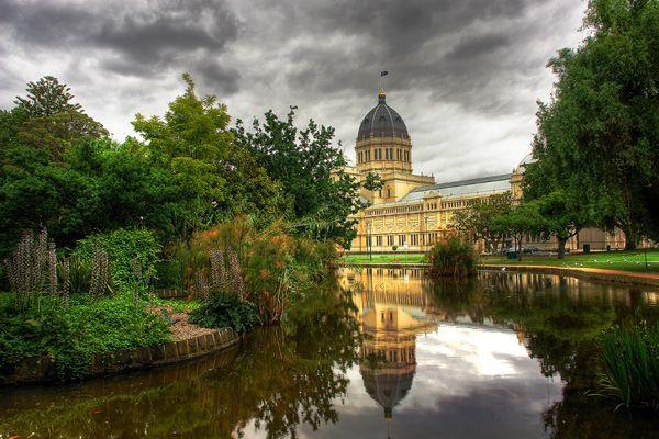 The Royal Exhibition Building in the 26 hectare Carlton Gardens, Carlton, Melbourne, Victoria