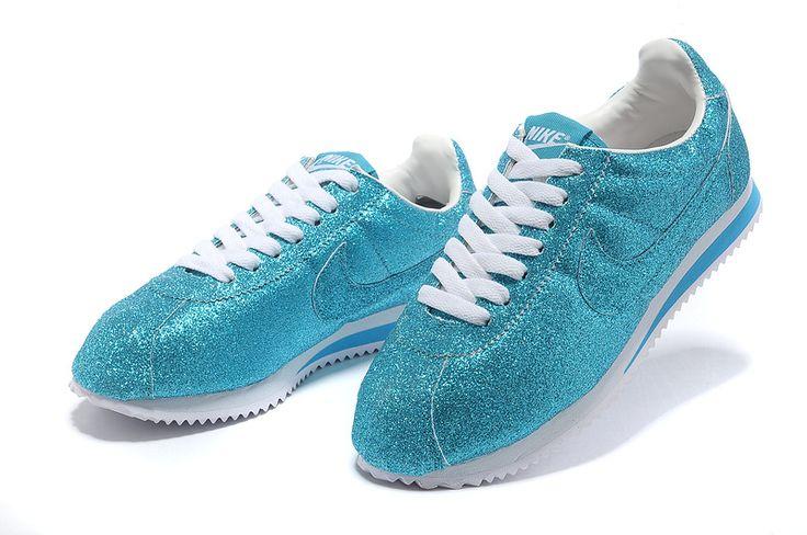 Classic Nike Cortez Blue Glitter