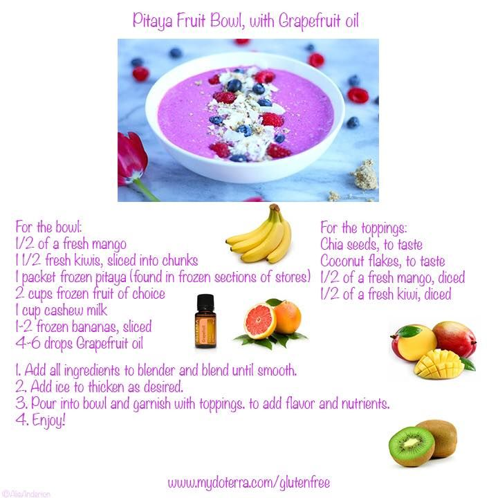 Pitaya Fruit Bowl with Grapefruit oil