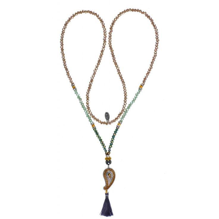 Hultquist-Copenhagen Paisley Pastel Stone Necklace