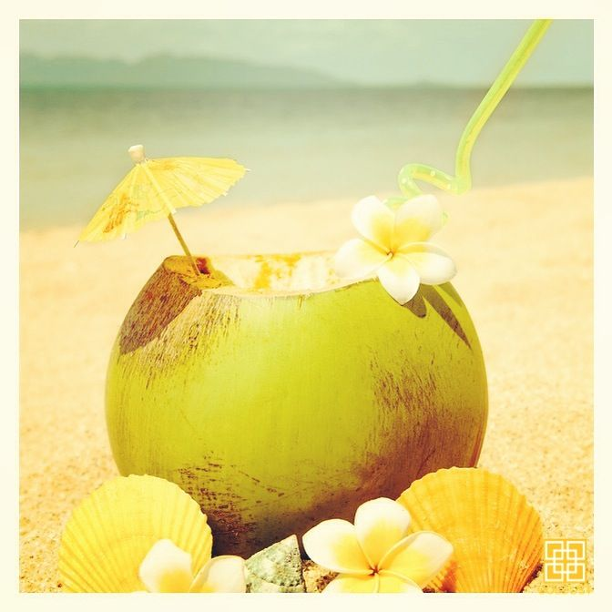 After a beautiful day at the beach, rehydrate yourself with coconut water, and your skin with a GOLDUST hydrating treatment. | GOLD | FEEL LIKE GOLD | 24K GOLD | BEAUTY | SKIN CARE | BODY CARE | NAIL CARE | BODY & BEAUTY PRODUCTS | FACIAL | MASSAGE | MANICURE | PEDICURE | NAIL POLISH | HAIR SPA | TREATMENTS | RELAX | PAMPERING | LUXURY | INDULGE | JEWELRY | RESORT WEAR | HEALTHY GLOW | WELLBEING | SPA | DAY SPA | BEAUTY LOUNGE | BEACH | SUNSET | TROPICAL | SUMMER | CANGGU | BALI | INDONESIA