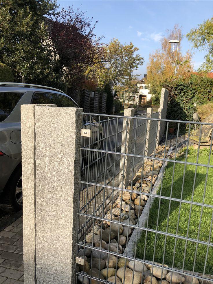 www.steinmetz-rheinbach.de  #Gartenzaun #Modern mit #Granit