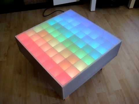 64 RGB-LED color wave table (Arduino, 12x TLC5940)