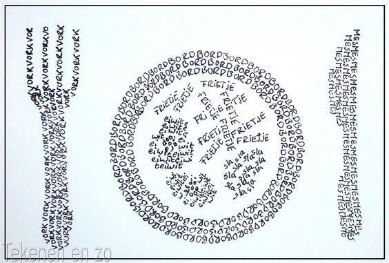 Afbeeldingsresultaat voor letters gestapelde boeken