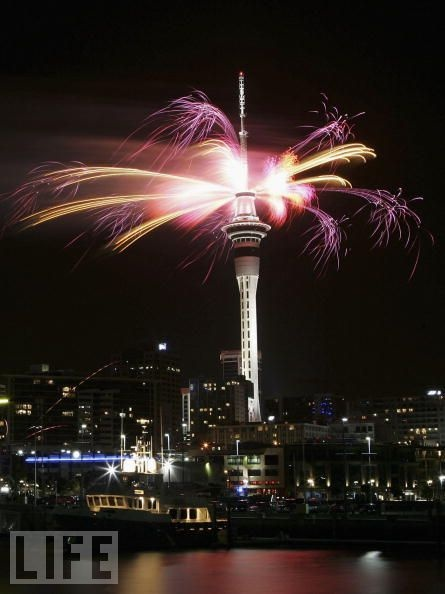 Auckland, New Zealand.  New Year's Eve.
