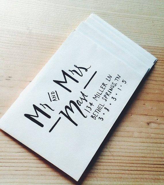 $2 - Wedding Calligraphy Envelope Addressing Modern