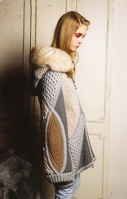 cape - great use of knitted texture