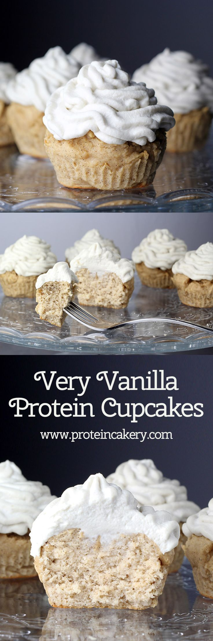 Very Vanilla Protein Cupcakes - high protein, low carb, gluten free