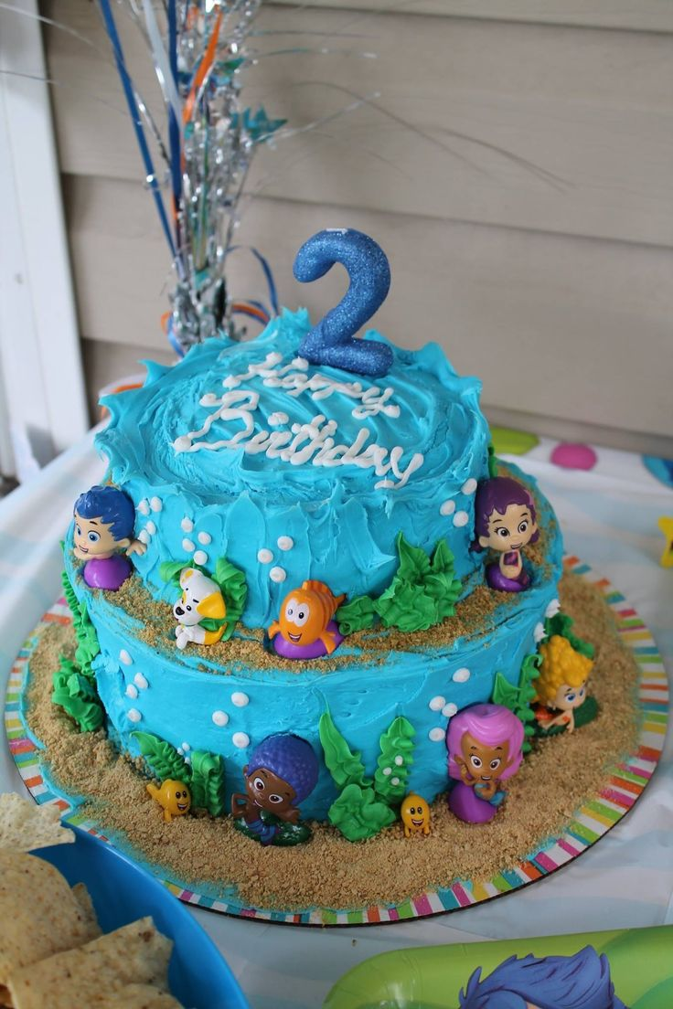 Bubble guppies cake, might do this for my daughters 3rd bday