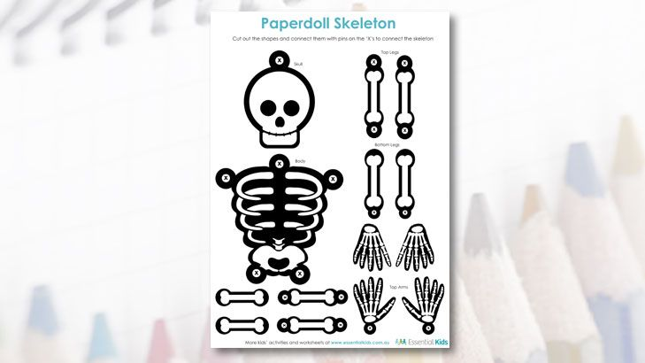 Scary Skeleton to cut out and make.