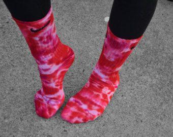 Purple Haze Tie Dye Nike Socks custom tie dye by DardezDesigns