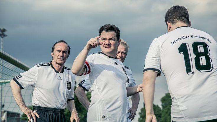 FC Bundestag: Mitglieder des FC Bundestag beim Training