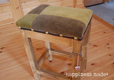 簡単!椅子(スツール)の作り方♪   ポチママのHappiness made*
