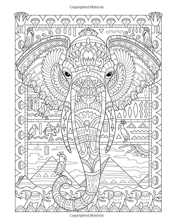elephant coloring page - Elephant Color
