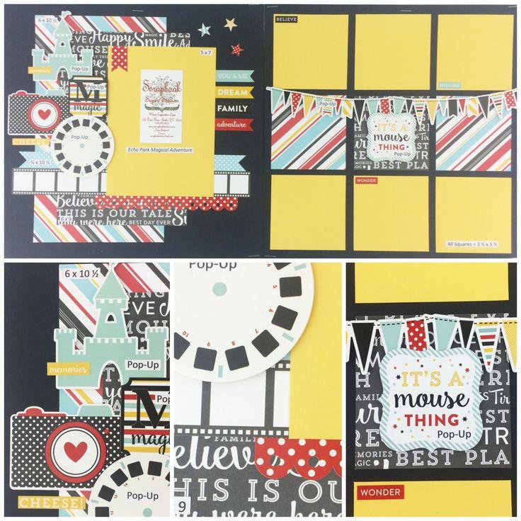 Echo Park Magical Adventure Best site for scrapbook layout and project kits!  Plus auto ship clubs! www.scrapbookstation.com