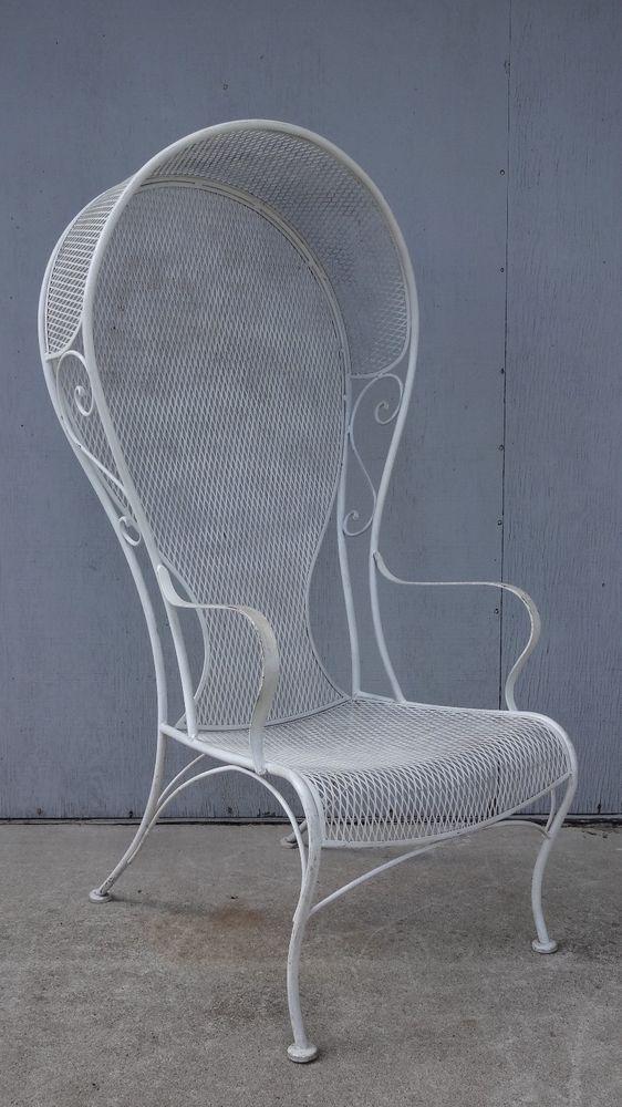 Mid Century Hollywood Regency Woodard Canopy Hooded Chair