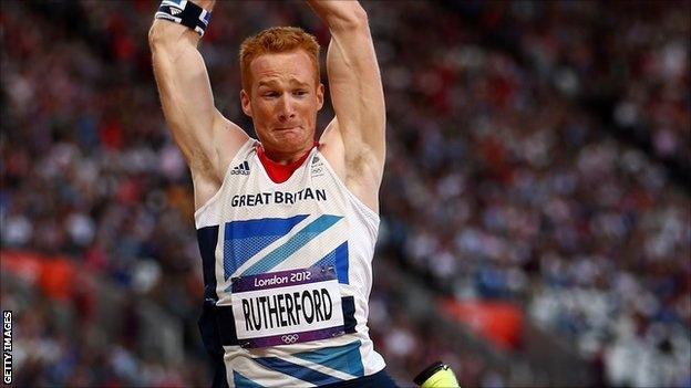 Greg Rutherford won Britain's 13th gold medal of the London 2012 Olympics, with victory in the long jump.