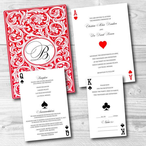 Las Vegas Wedding Invitation Printable  Las Vegas Invitation