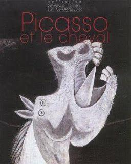 """Cette performance me fait penser à Picasso. Bartabas a peut-être puisé une partie de son inspiration chez le peintre dont il a dédié un volume de la """"Collection Grande Ecurie de Versailles"""" (éditions Favre). Je revois avec curiosité les études pour le cheval de Guernica."""