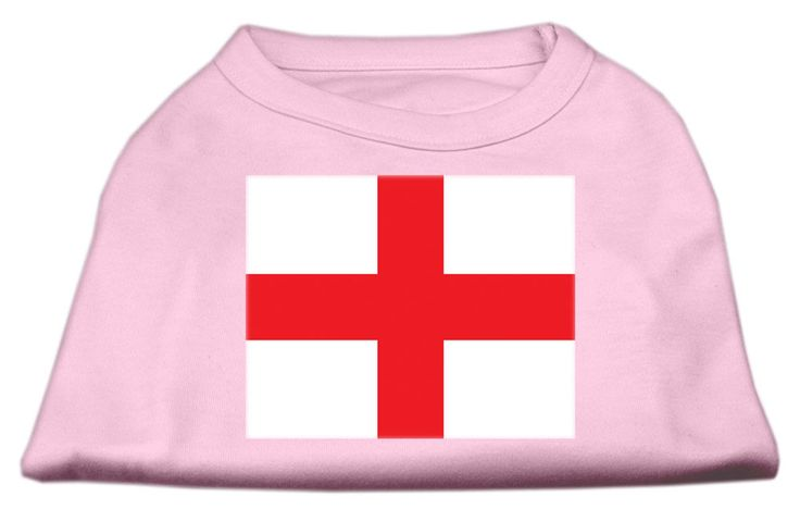 St. George's Cross (English Flag) Screen Print Shirt Light Pink XS (8)