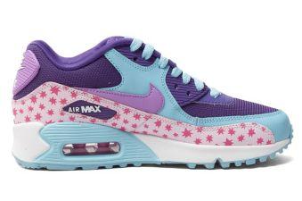 soldes Nike Chaussures - Air Max - violet bleu clair rose étoiles  - soldes Nike Chaussures Air Max violet bleu clair rose étoiles
