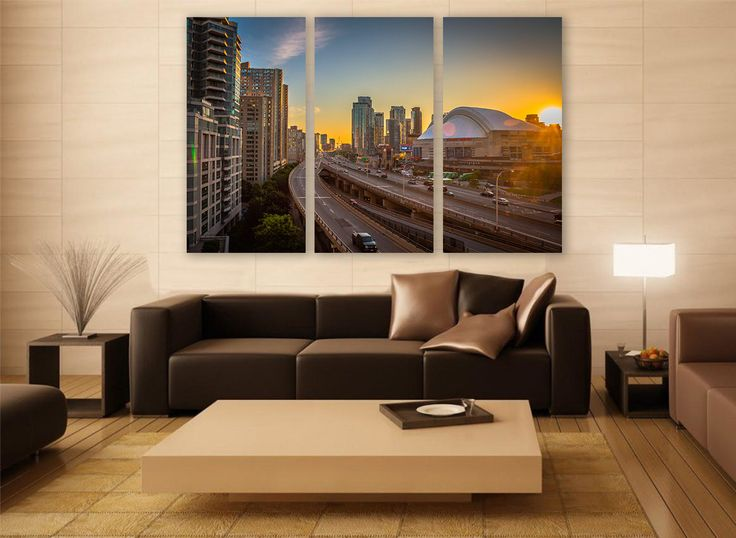 Toronto Stadium Canvas Print 3 Panels Wall Decor Art Canada Cityscape Photography For