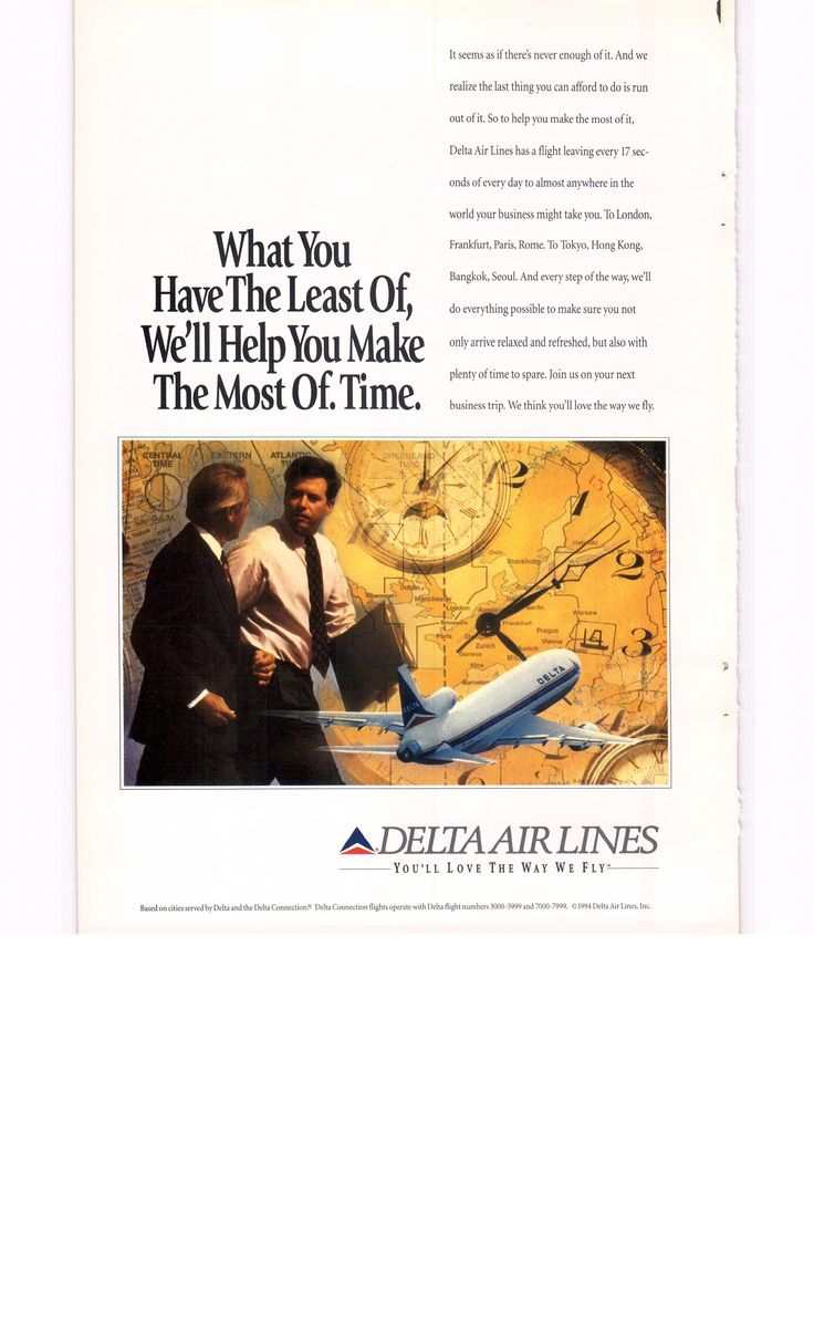 1995 Delta airlines ad - National Geographic March 1995