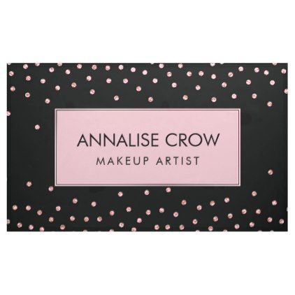 Gentle Pastel Pink Glitter dot on black Banner - artists unique special customize presents