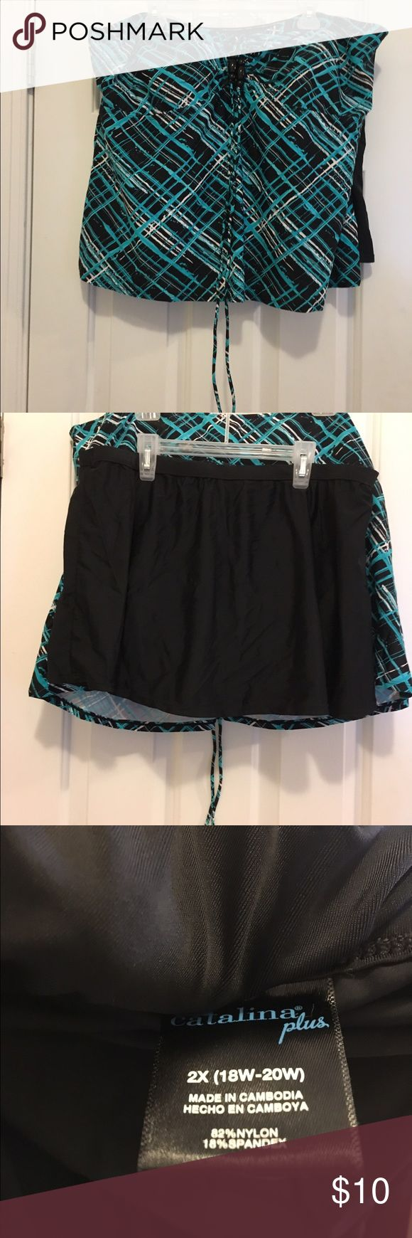 Addition Elle plus size swimsuit Addition Elle brand plus size 2 piece swimsuit, size 4X top and size 18/20 bottom. Excellent condition and gently used. Ties around the neck and has a very supportive bra built in. Addition Elle Swim