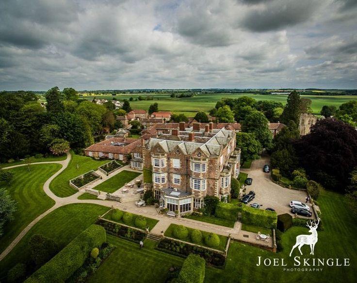 Fabulous aeriel shot by Joel Skingle Photography of Goldsborough Hall, Yorkshire, UK.