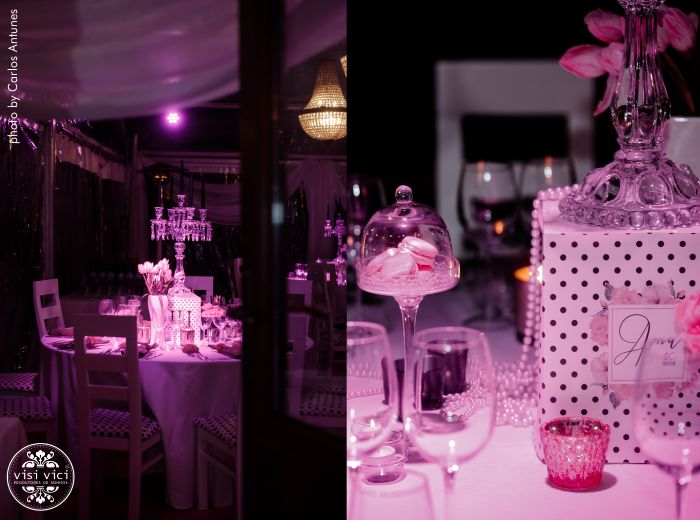 A sala que não existia, nasceu com uma tenda, que vestimos com o glamour necessário para este dia! in Restaurante Golfinho Azul by VISI VICI