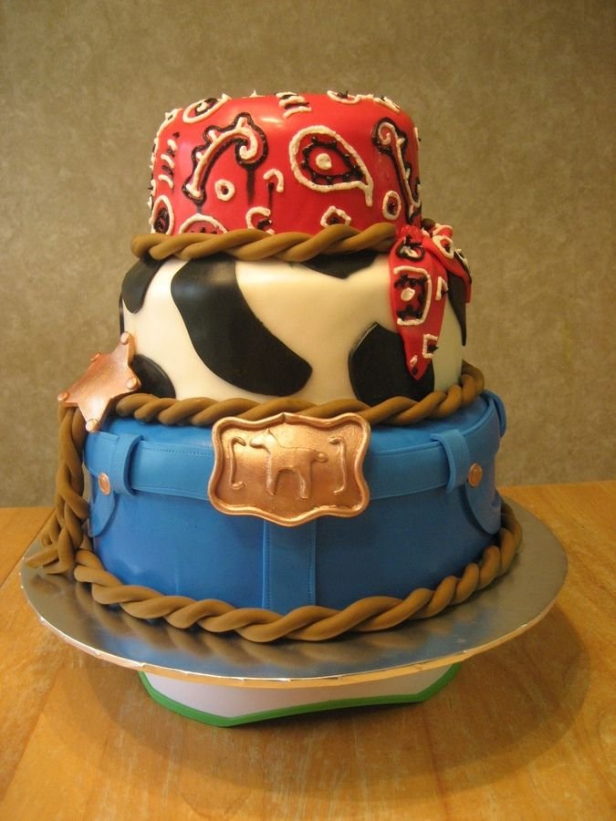 Cowboy birthday cake inspiration! Wanna make this for my baby brothers birthday!
