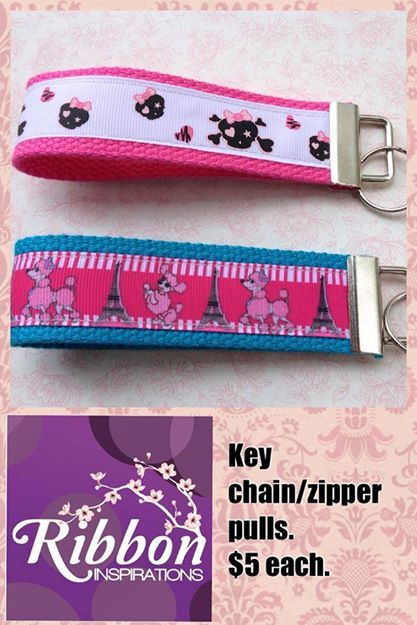 Key chains/zipper pulls. Under $10 Market Night Tuesday 8th April, 2014