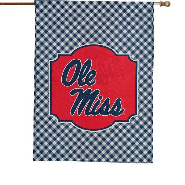 "Ole Miss Rebels 28"" x 40"" Gingham Design House Flag - $36.99"
