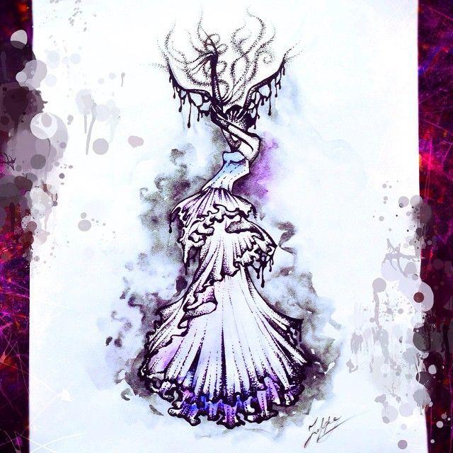 Новая серия под названием темная мода.... Dark fashion!  #art #artwork #sketch #fashion #draw #paint #dress #idraw #ink #illustration #эскиз #рисунок #ярисую #скетч #набросок #мода #платье #графика #иллюстрация #graphic